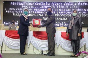 DPRD Lampung Gelar Paripurna LKPJ Melalui Video Conference