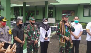 Forkopimda Tanggamus Sambut Kunjungan Pangdam II/Sriwijaya