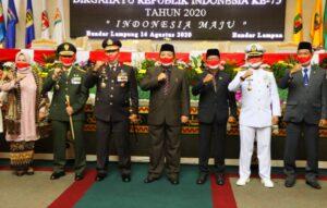 Gubernur Lampung Hadiri Rapat Paripurna HUT RI Ke-75