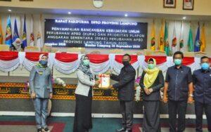 DPRD Lampung Gelar Paripurna KUA-PPAS Perubahan 2020