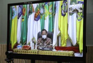 Gubernur Arinal Rapat Virtual Bersama Menkopolhukam