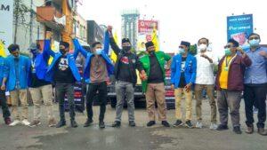 Di Lampung PMII-KNPI Kolaborasi Tolak Omnibus Law