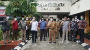 Banperda dan Banmus DPRD Tanggamus Kunjungan ke Dinkes Sumsel Bahas Perda Covid-19